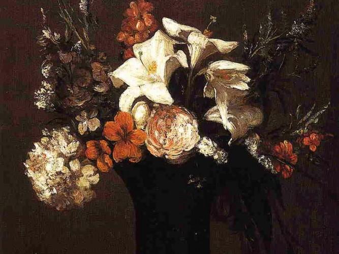 Henri Fantin Latour çiçekler tablosu