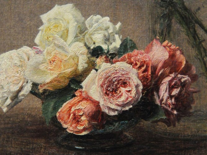 Henri Fantin Latour Pembe ve Beyaz Güller
