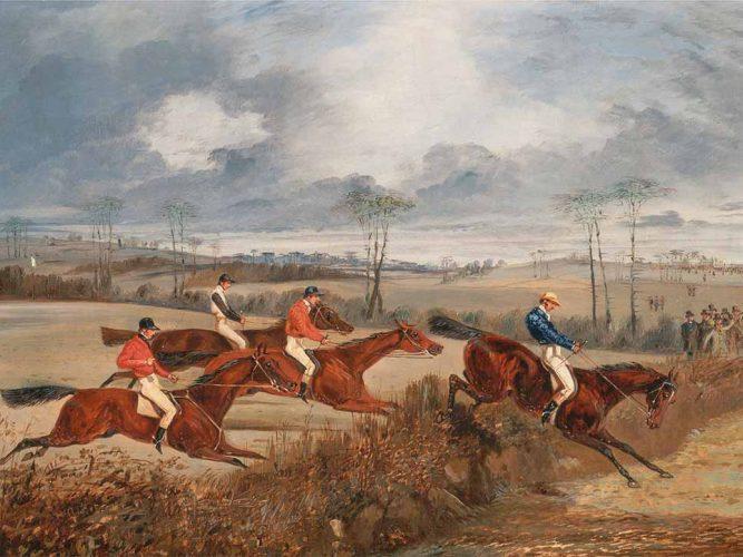 Henry Thomas Alken Engelli Yarıştan Görüntü Geçerken