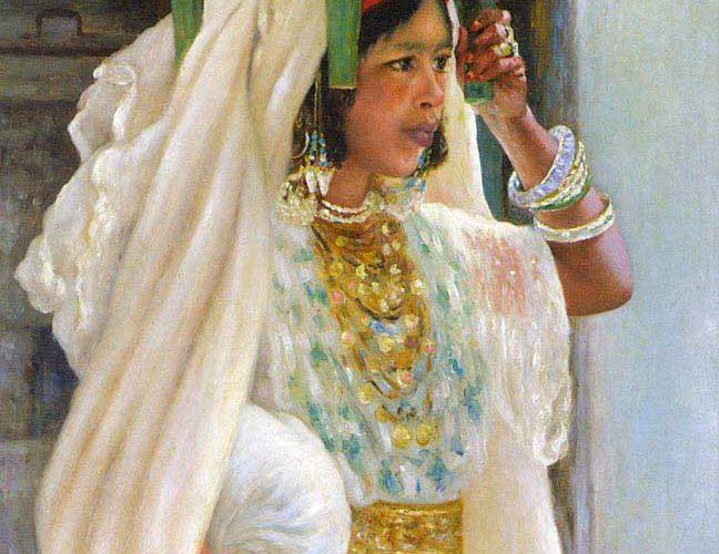 Henry d'Estienne Ekmek Taşıyan Arap Kız