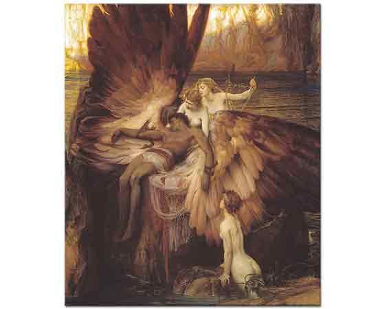 Herbert James Draper Icarus için Ağıt