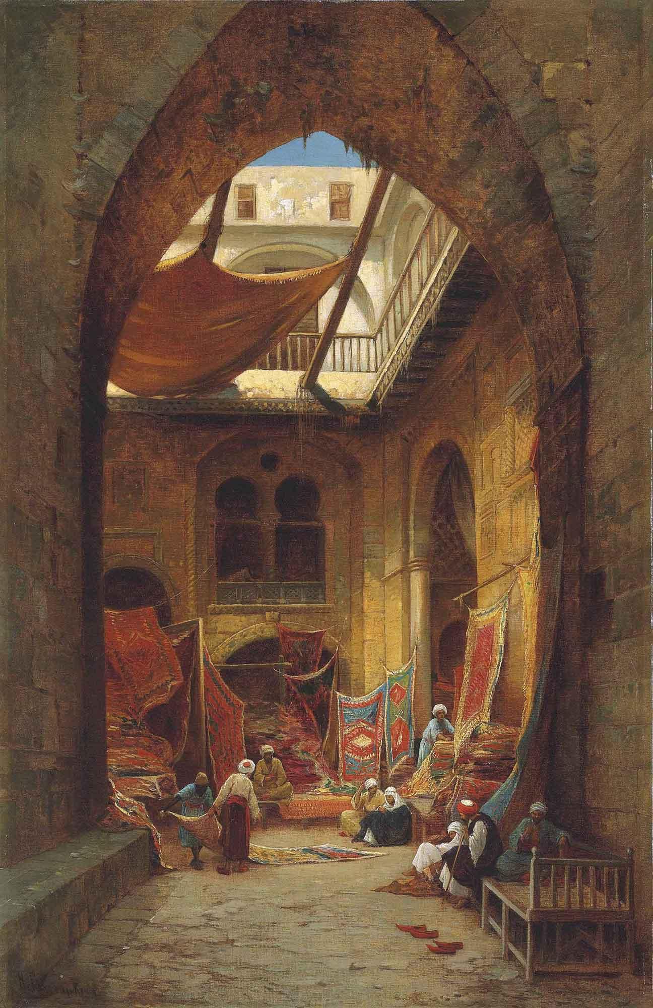Hermann David Salomon Corrodi Arap Halı Tüccarları