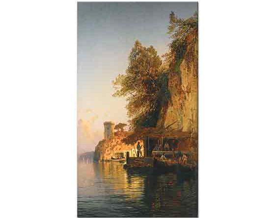 Hermann David Salomon Corrodi Denizde Italyan Balıkçıları