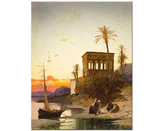 Hermann David Salomon Corrodi Nil üzerinde İmparatorluğun Kulübesi