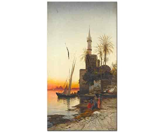 Hermann David Salomon Corrodi Nil'de Günbatımı