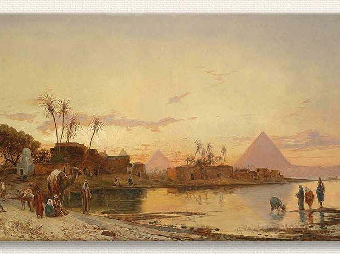 Hermann David Salomon Corrodi Nil Kıyısında Manzara