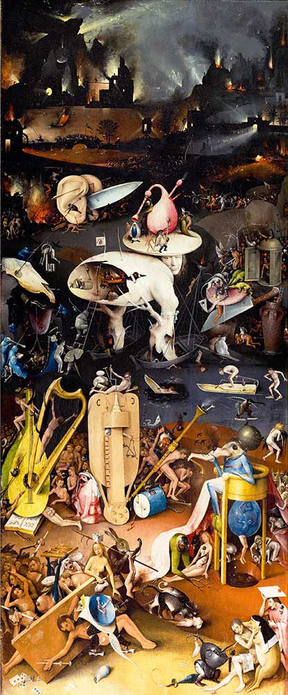 Hieronymus Bosch Dünyevi Lezzetler Bahçesi Cehennem