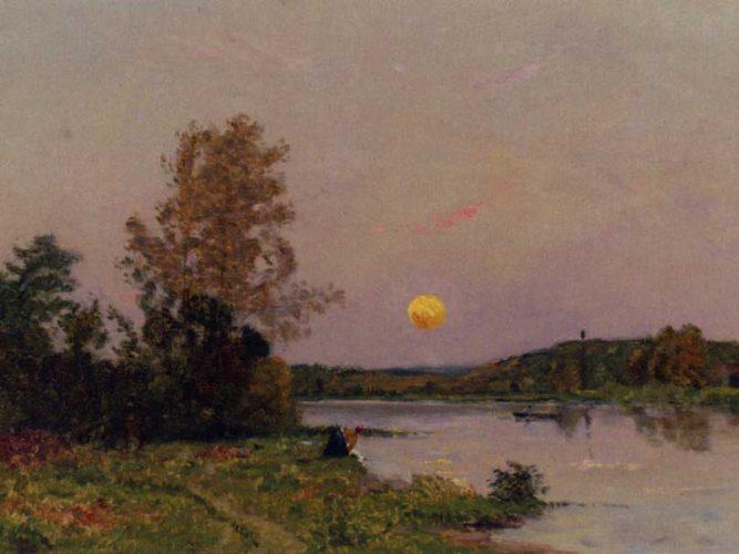 Hippolyte Camille Delpy Lavandiere Et Barques