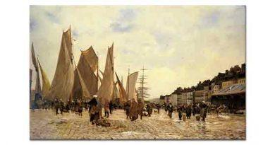 Hippolyte Camille Delpy Dieppe'deki iskeleler