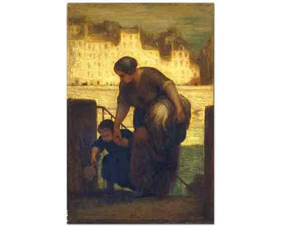 Honore Daumier Çamaşırcı Kadın