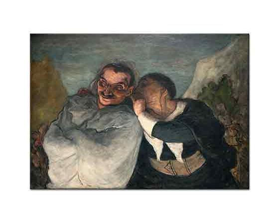 Honore Daumier Crispin ve Scapin