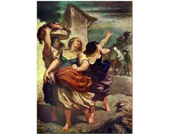 Honore Daumier Değirmenci Eşeği ve Oğlu