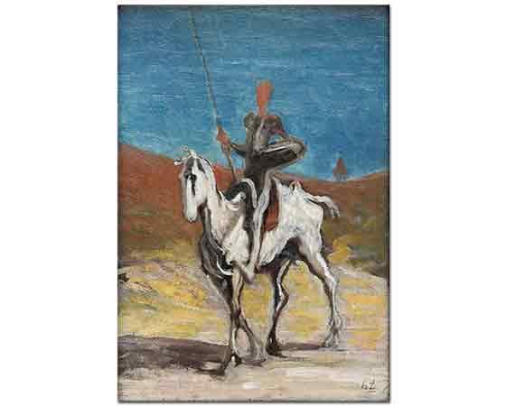 Honore Daumier Don Kişot ve Sanço Panço