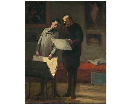 Honore Daumier Genç Ressama öğütler