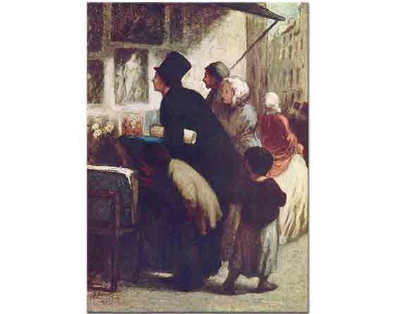 Honore Daumier Gravür Satıcısı