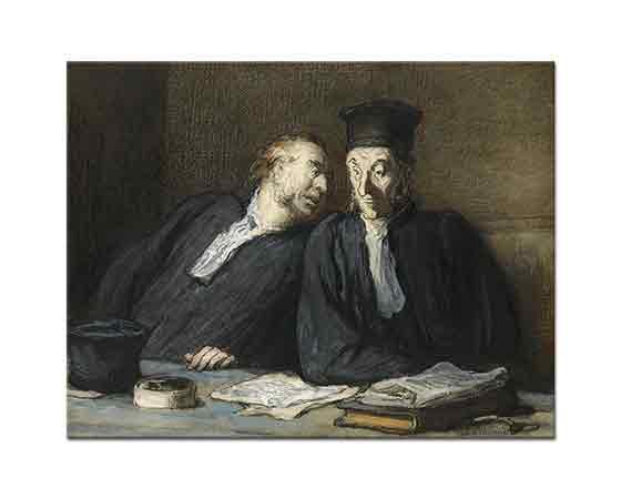 Honore Daumier iki Avukat