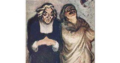 Honore Daumier Komedi Sahnesi