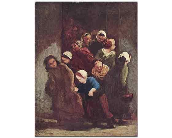 Honore Daumier Okuldan Çıkış