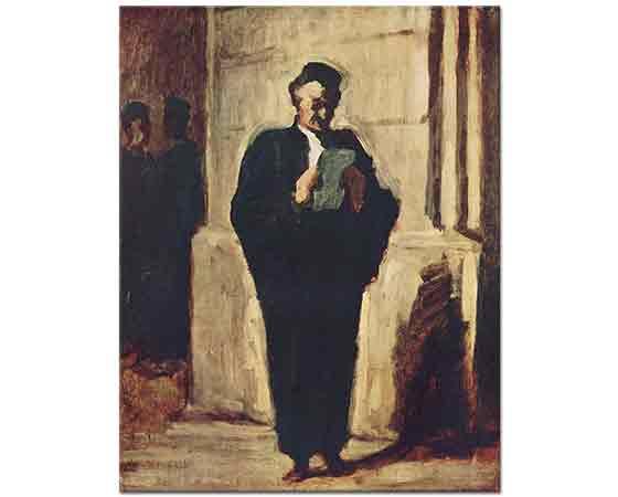 Honore Daumier Okuyan Avukat