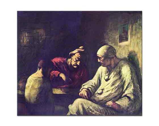 Honore Daumier Oyuncuların Molası