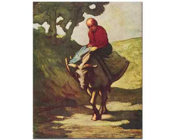 Honore Daumier Pazardan Eve Dönüş