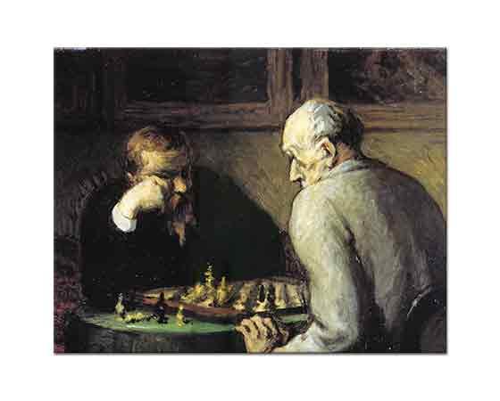 Honore Daumier Satranç Oynayanlar