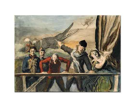 Honore Daumier Tasavvur Karnaval Parodisi