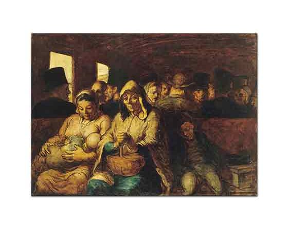 Honore Daumier üçüncü Sınıf Arabası