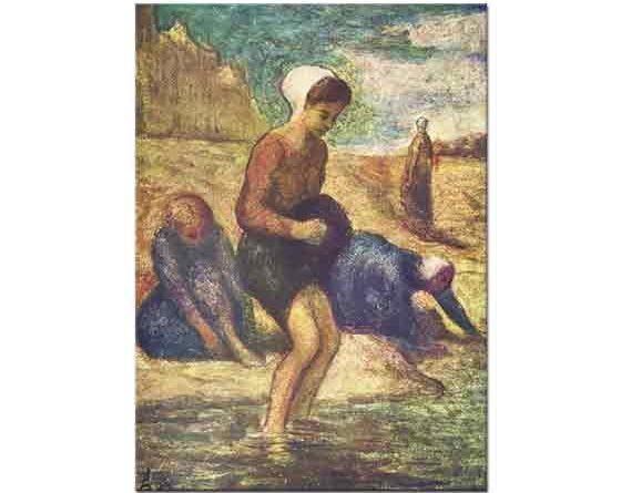 Honore Daumier Yıkanan Genç Kız