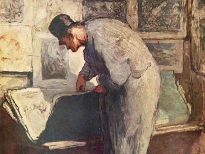 Honore Daumier Gravür Meraklısı