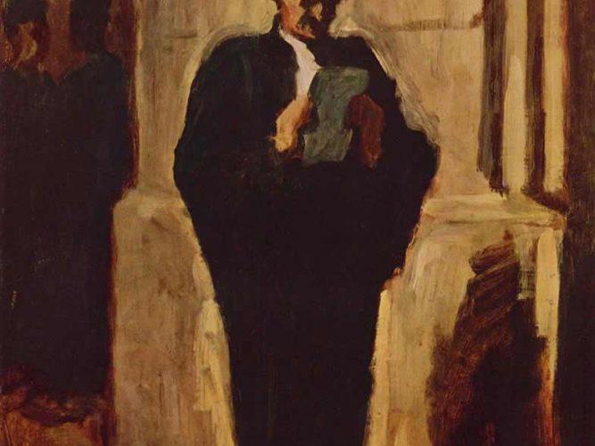 Honore Daumier Kitap Okuyan Avukat