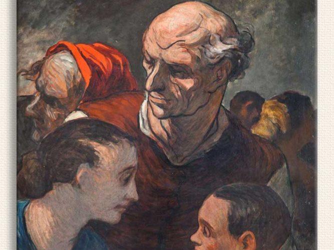 Honore Daumier Aile tablosu