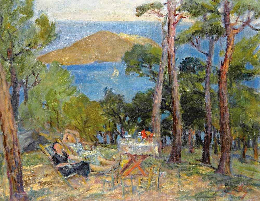 Ibrahim Çallı Adada Piknik Sefası