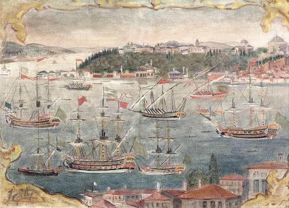 Ibrahim Çallı Haliç'de Yelkenliler