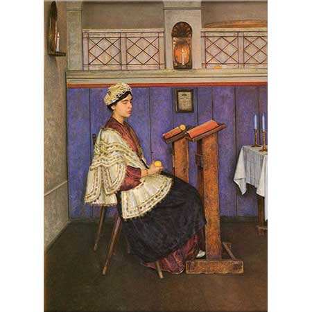 Isidor Kaufmann Sinagogda Genç Kadın