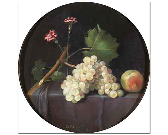 Jacop Foppen van Es üzümlü Natürmort