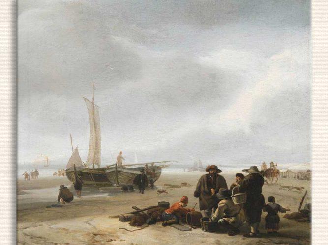 Jacob Esselens Sahilde Balıkçılar
