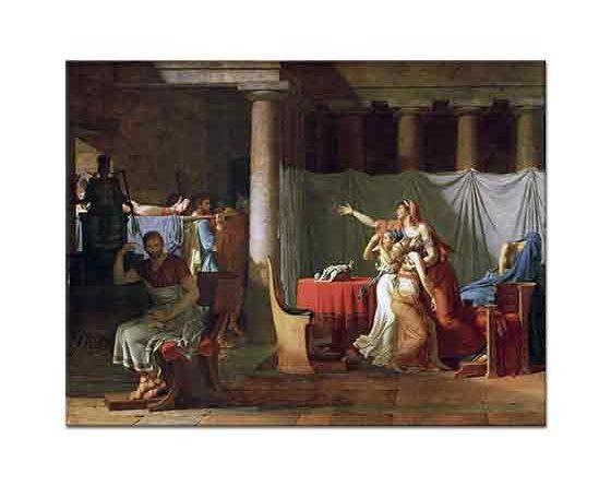 Jacque Louis David Brutus'un Oğullarının Cesetleri Getirilirken