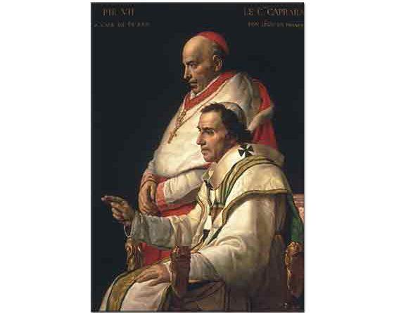 Jacque Louis David Papa VII Pius ve Cardinal Capara