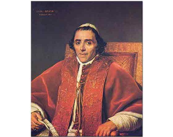 Jacque Louis David Papa VII Pius'un Portresi