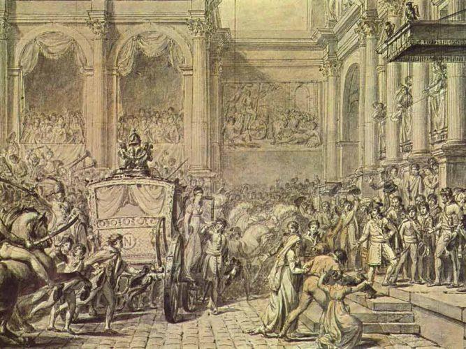 Jacque Louis David Napolyon Hükümet Konağından Çıkarken