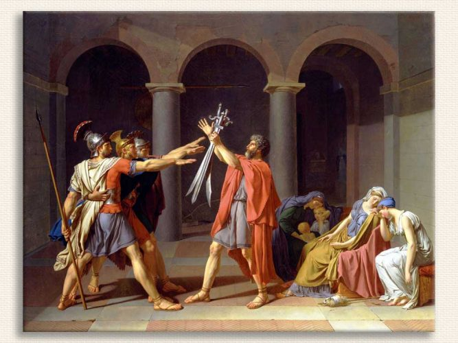Jacque Louis David Horatii Kardeşlerin Yemini