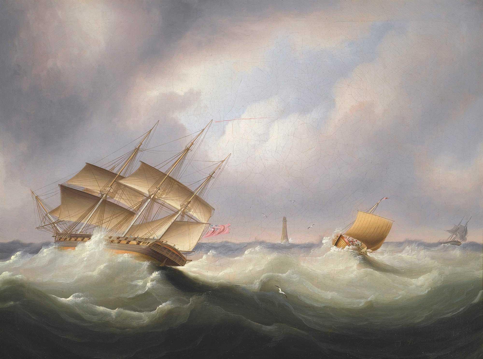 James Edward Buttersworth Fırtına