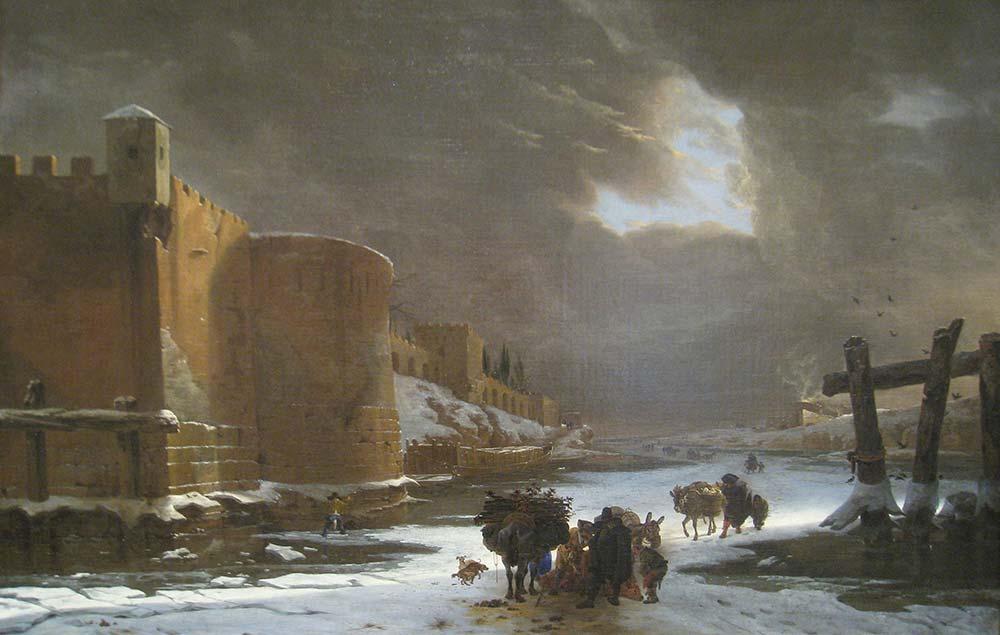 Jan Asselijn Şehir Duvarı Dışında Donan Hendek
