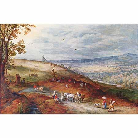 Jan Brueghel the Elder Değirmenli Manzara
