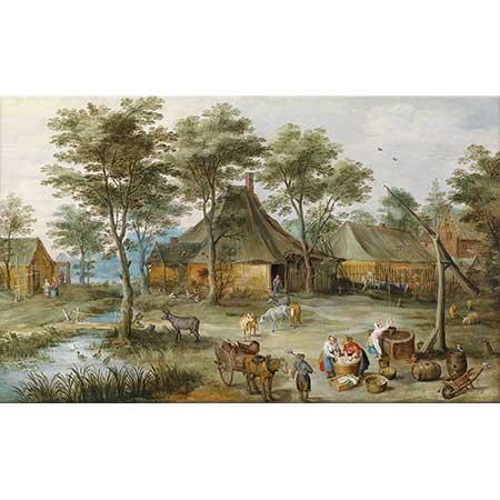 Jan Brueghel the Elder Köy Manzarası