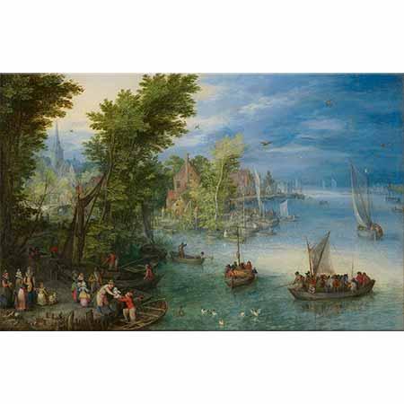 Jan Brueghel the Elder Nehir Manzarası