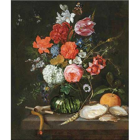Jan Davidsz de Heem Vazoda Çiçekler