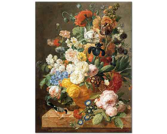 Jan Frans Eliaerts Vazoda Çiçek Buketi