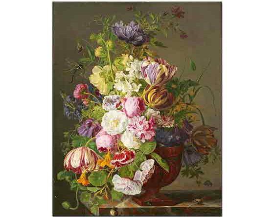 Jan Frans van Dael Vazoda Laleler ile Çiçekler